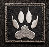Tenkey Wolf Tracker PAW USA Army Military Morale Tactical Black Ops Swat Velcro Patch