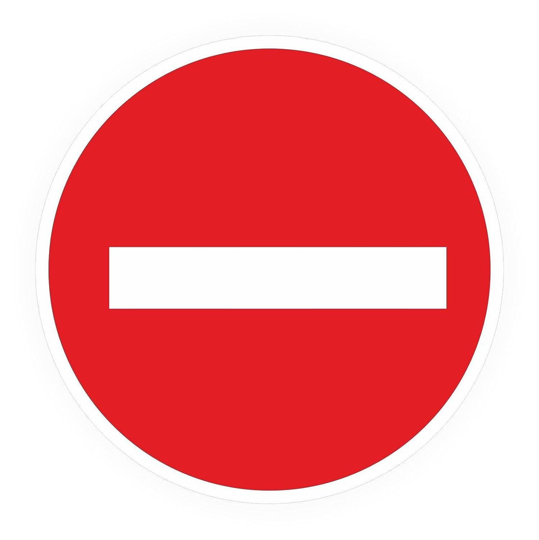 Autocollants/Panneau Sens Interdit Interdiction de la einfahrt stvo N ° 267/8–100Cm bien haftend C Aufkleber 40 cm