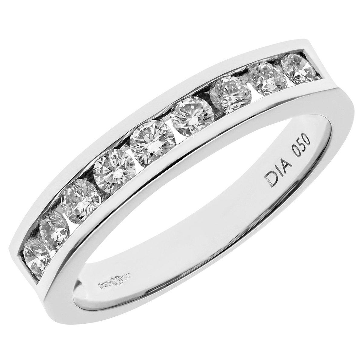 9996a9abf97b Naava - Anillo para Mujer de Platino 950 con Diamante  Amazon.es  Joyería