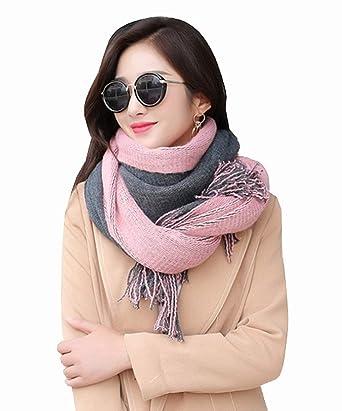 781d4fa8d45e3f (Hanarose) マフラー レディース ストール 女性用 大判 両面織り 厚手 秋冬 ショール フリンジ スカーフ