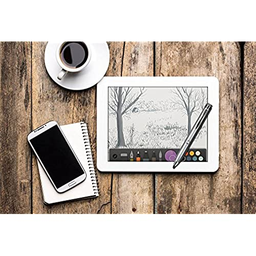 Broonel Grey Rechargeable Fine Point Digital Stylus Compatible with The Huawei MediaPad M5 8.4
