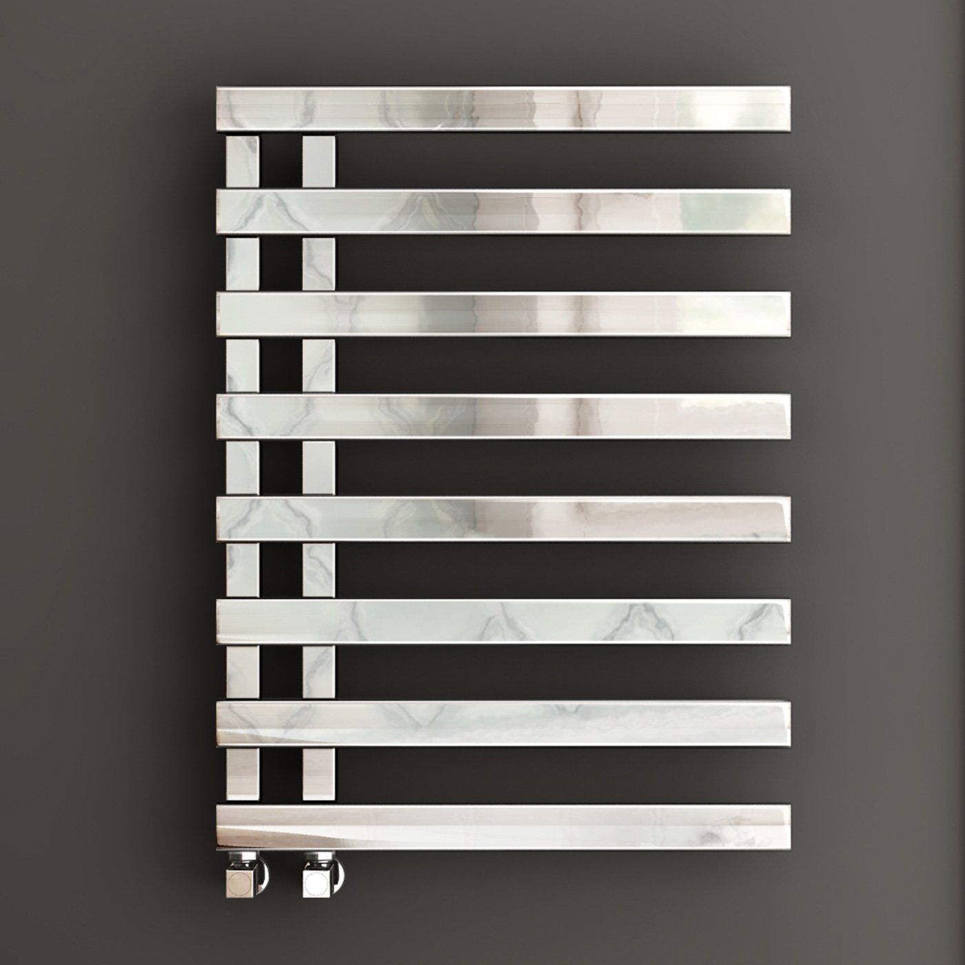 820 x 450 Designer Chrome Heated Towel Rail Bathroom Radiator - All Sizes iBathUK