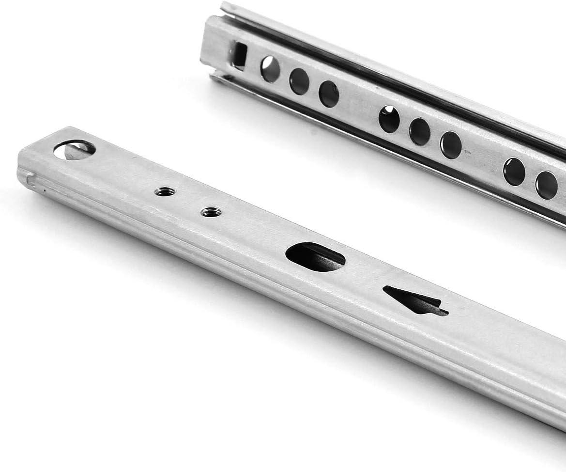 SurePromise Lot de 5 paires de glissi/ères de tiroir /à roulement /à billes Hauteur 17 mm Fermeture amortie Push to Open