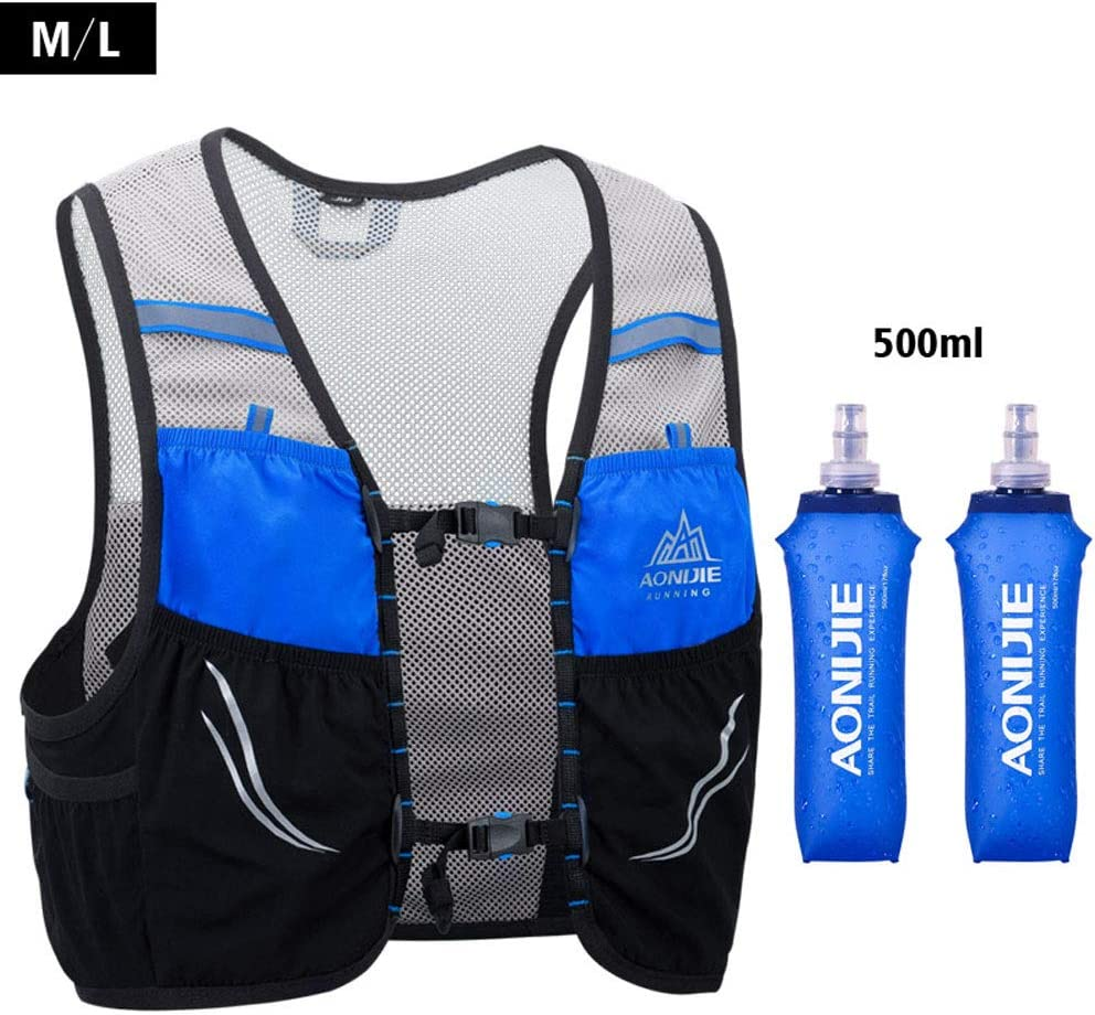 AONIJIE Trail Running Vest Backpack Lightweight Breathable Cycling Marathon Ultralight Hiking Sport Bag 2.5L with 500ml Soft Flask