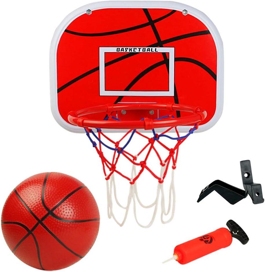 Symiu Canasta Baloncesto Tablero Baloncesto Juego Al Aire Libre y Interior Oficina Habitación Jardín Aro Baloncesto para Niños y Adultos (Incluyendo Inflador y Pelota)