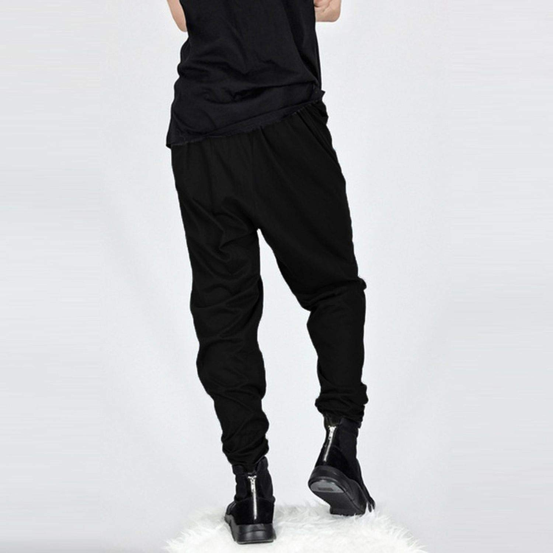 Streetwear Men Pants Zipper Fashion Irregular Trousers Men Hiphop Loose Casual Pants Pant S-5XL