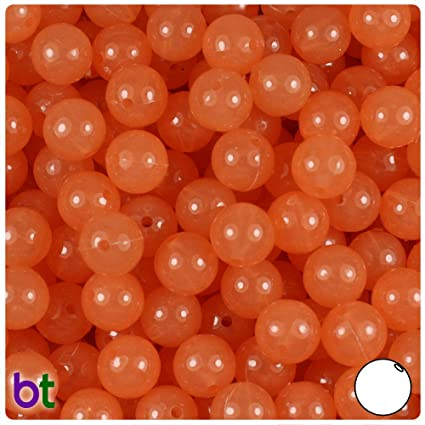 150pcs Color choice BeadTin Sparkle 10mm Round Plastic Beads