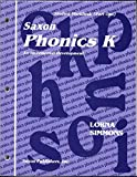 img - for Saxon Phonics K An Incremental Development - Student Workbook (Part One) book / textbook / text book