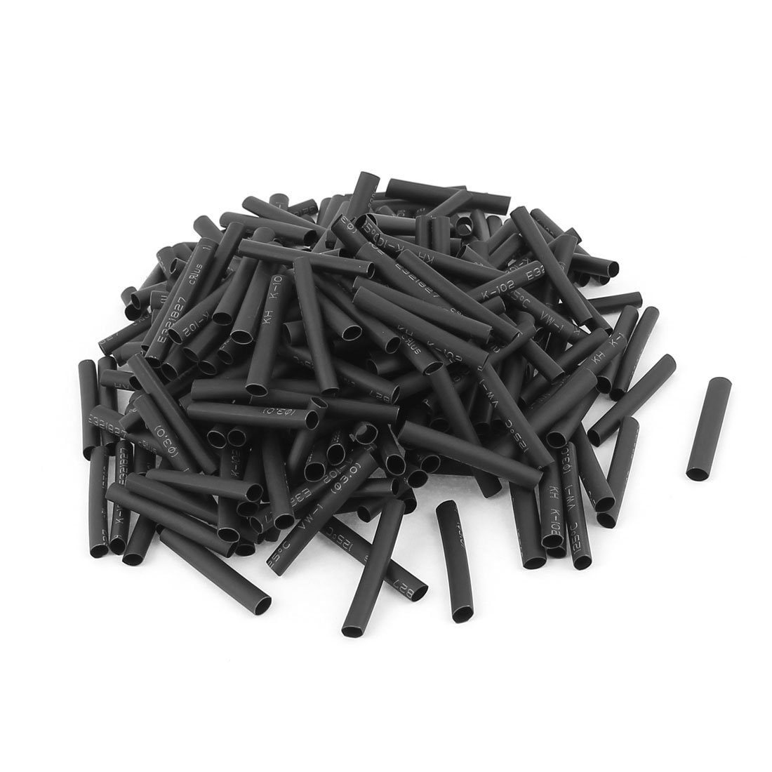 Uxcell Wire Wrap Sleeve 3 mm Dia 30 mm Long Heat Shrink Tubing 240Pcs Black
