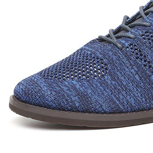 Ville CHAMARIPA rehaussante Tricoter Chaussures H81C10K091D Plus cm Grand Hommes Oxford 6 Décontractée Lacer Bleu de Xqq1Baf