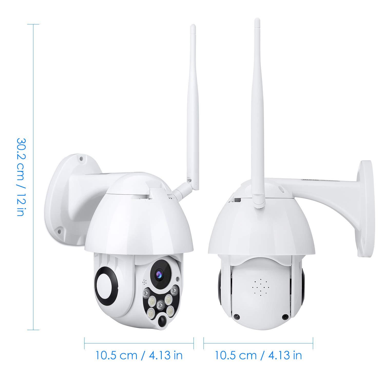 Detecci/ón de Movimiento 2.4G WiFi Vista Remota con Android//iOS//PC C/ámara de Vigilancia Exterior Mbuynow 360 Grados C/ámara WiFi HD 1080P con Visi/ón Nocturna