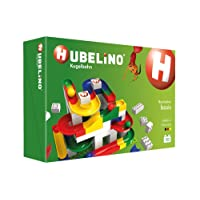 Hubelino Marble Run - 123-Piece Basic Building Box - The Original! Made in Germany! - Certified and Award-Winning Marble Run - 100% Compatible with Duplo