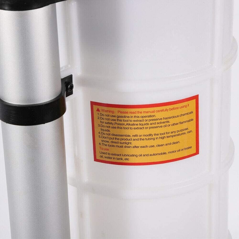 manuelle /Öltransferpumpe /Ölabsaugpumpe 7L//9L Wasserfl/üssigkeits/ölpumpe 7L Marinemotorrad-Auto-Saugpumpe mit 3 Rohren