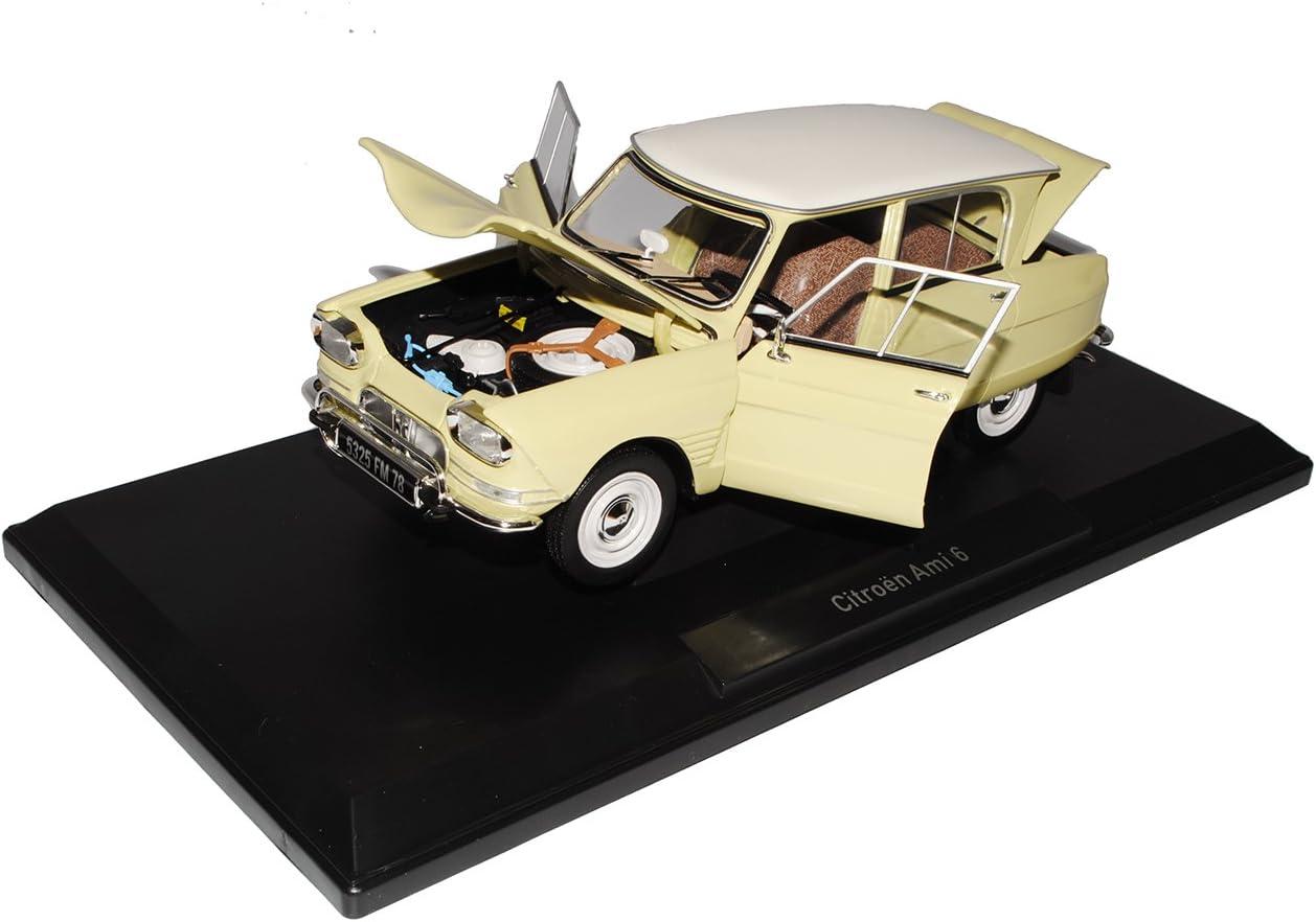 Norev Citroen AMI 6 Beige Weisses Dach 1961-1969 1//18 Modell Auto mit individiuellem Wunschkennzeichen