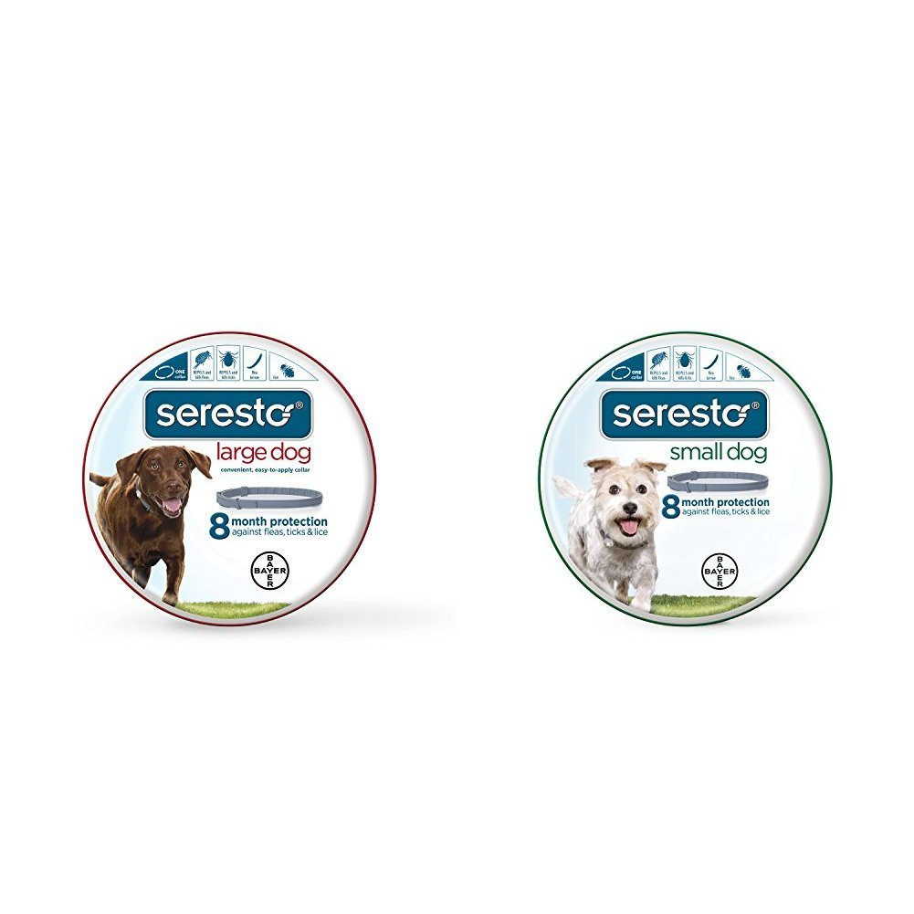 Bayer Seresto Flea and Tick Collar for Large and Small Dogs Bundle, 8 Month Protection by Bayer Animal Health