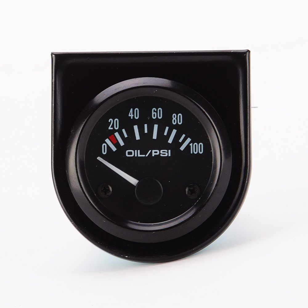 52mm 12V Digital Analog Electric Oil Pressure Gauge Indicator Tachometer Detector Car Motorcycle Generic