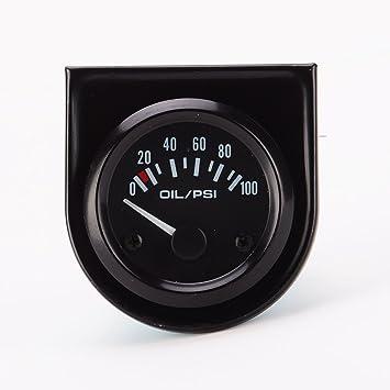 925edce9c2c1 52mm Tacómetro Indicador Digital Eléctrico de Presión de Aceite Indicador  Manómetro de Aceite de Moto Coche  Amazon.es  Coche y moto