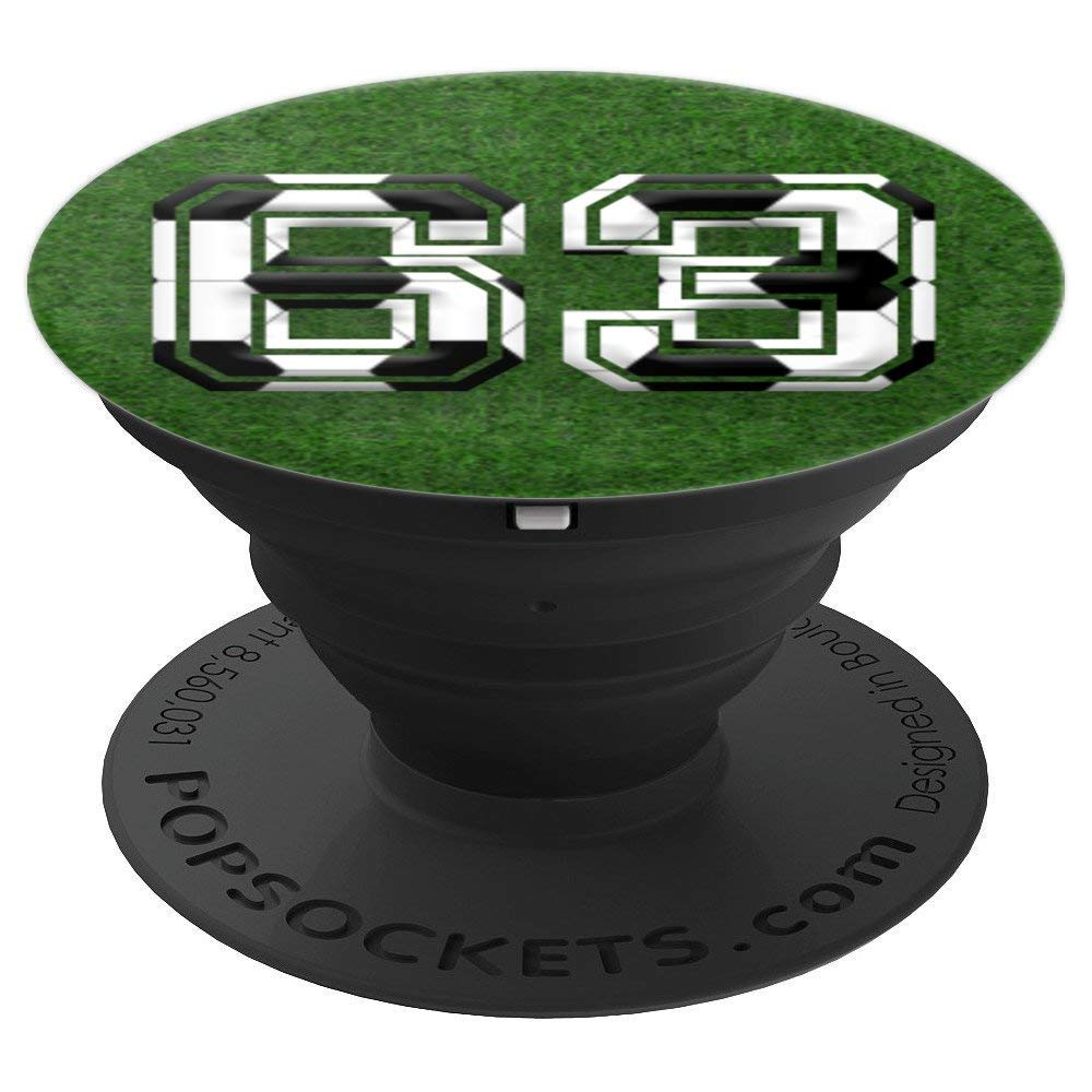 078039cb4ac68 Amazon.com: SOCCER Player #63 Jersey No 63 Football Ball Pop Socket Gift -  PopSockets Grip and Stand for Phones and Tablets: Cell Phones & Accessories