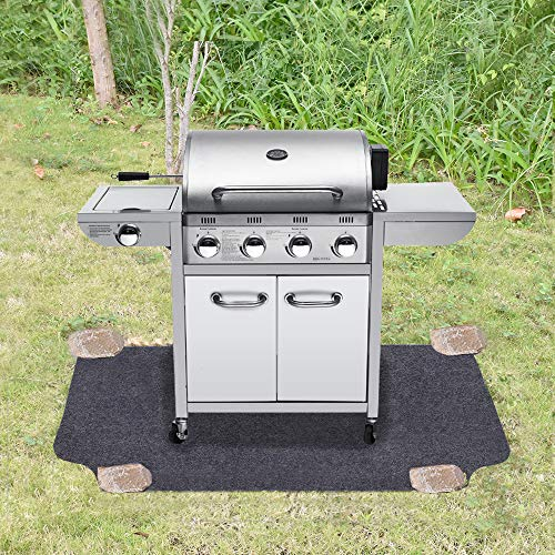 Under The Grill Mat,Absorbent Fabric Material,Washable,Reusable,Anti-Slip and Waterproof Backing,Protection for Decks and Patios from Grease Splatter and Other Messes(36inches x 72inches)