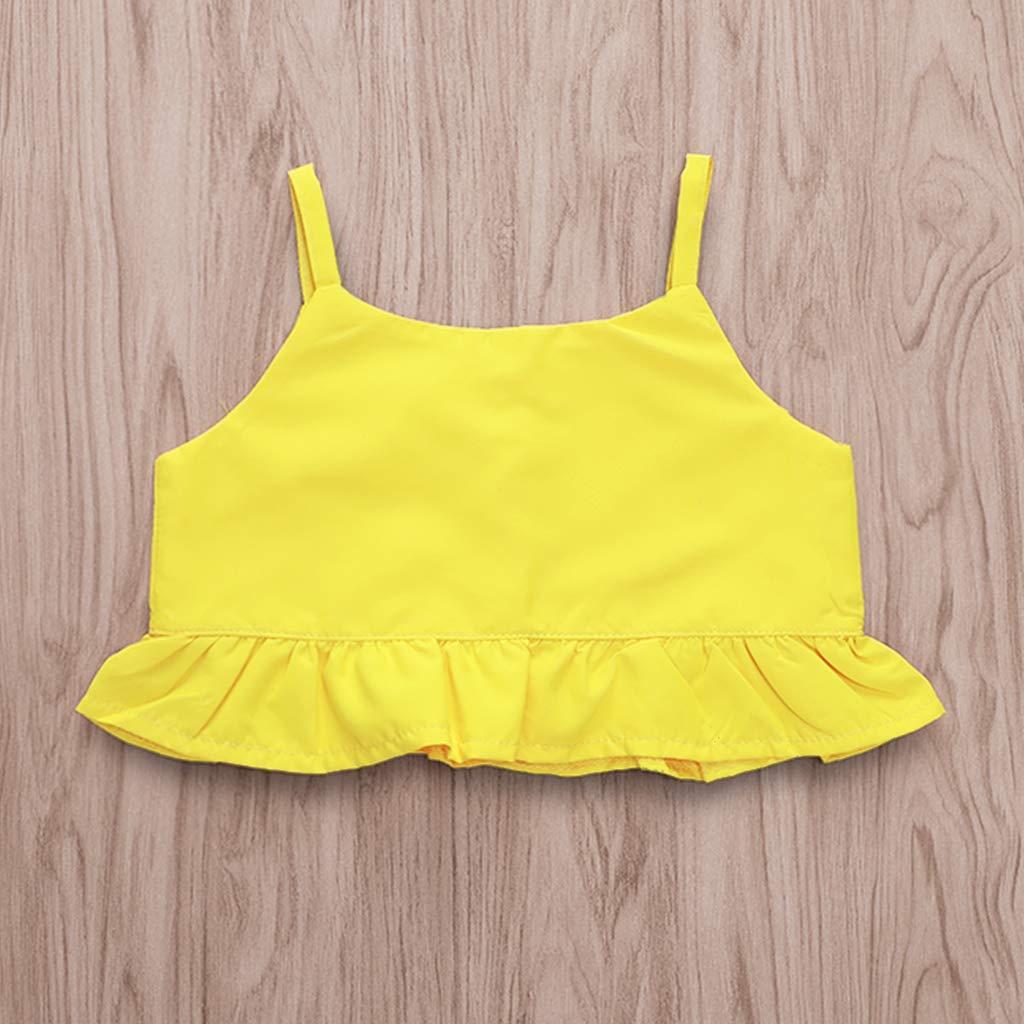 Bowknot Denim Shorts Skirt Set Toddler Summer Clothes Kids Baby Girls Outfits Floral Ruffle Off Shoulder Crop Tops