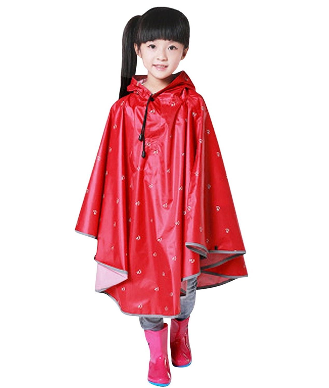 Tortor 1Bacha Kids Print Reflective Hooded Raincoat Children Rain Poncho Slicker