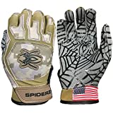 Kyпить Spiderz WEB Baseball Batting Glove with Silicone Spider Web Palm (Combat Camo, Youth Small) на Amazon.com