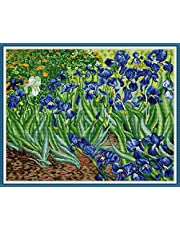 Maydear Cross Stitch Kits Stamped Full Range of Embroidery Starter Kits for Beginners DIY 14CT 2 Strands -