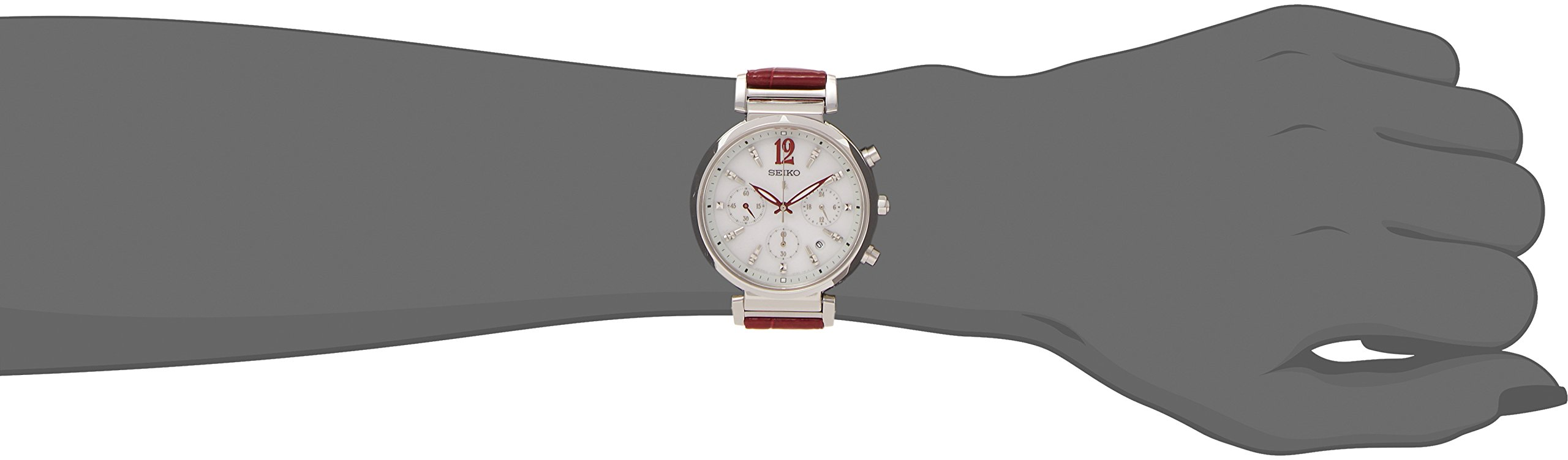 LUKIA solar watch SEIKO chronograph ladies type SSVS035 popularity by LUKIA