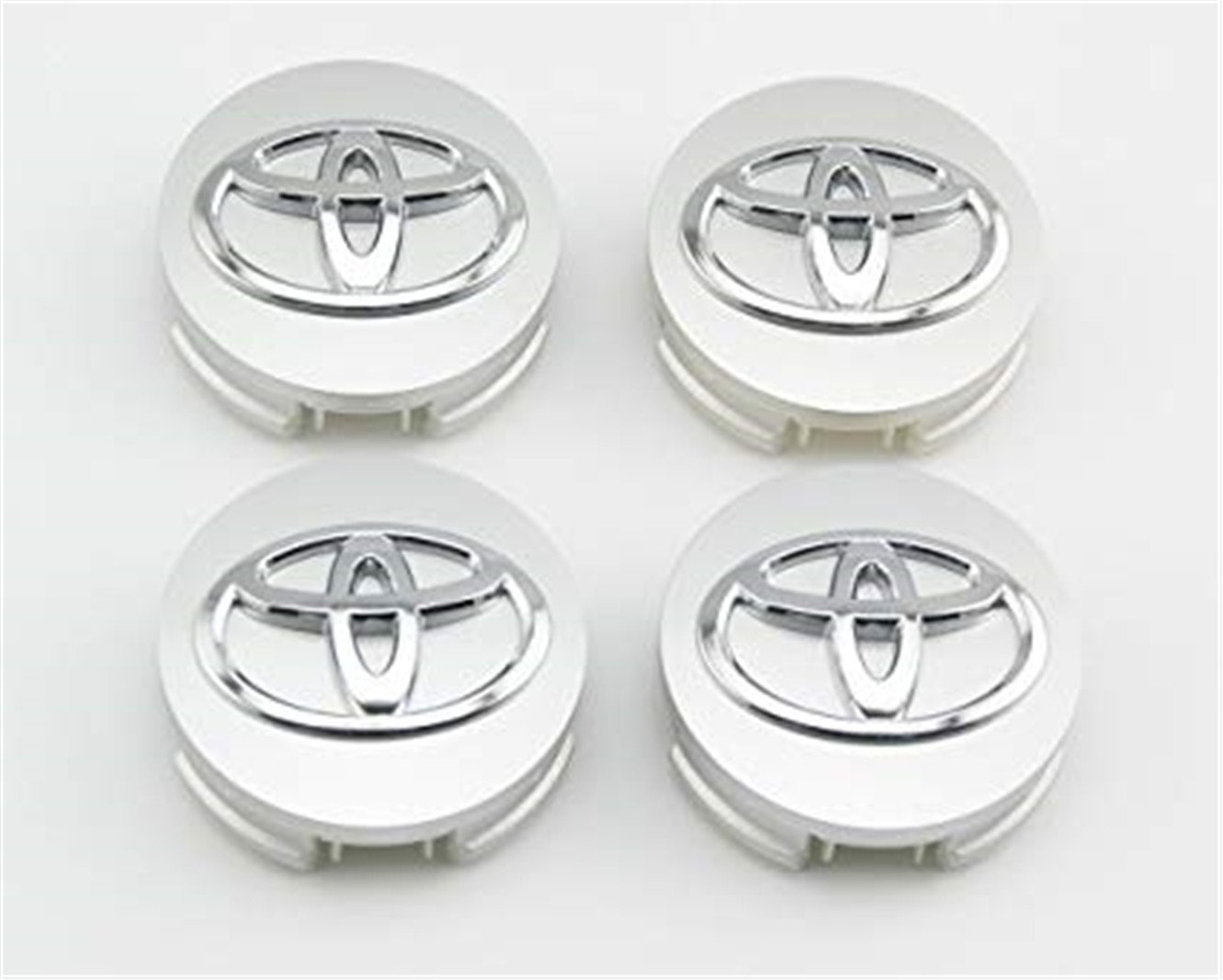 lijuan218 For Toyota 62mm Outer Diameter Silver Wheel Center Hub Caps Cover 4-pc Set