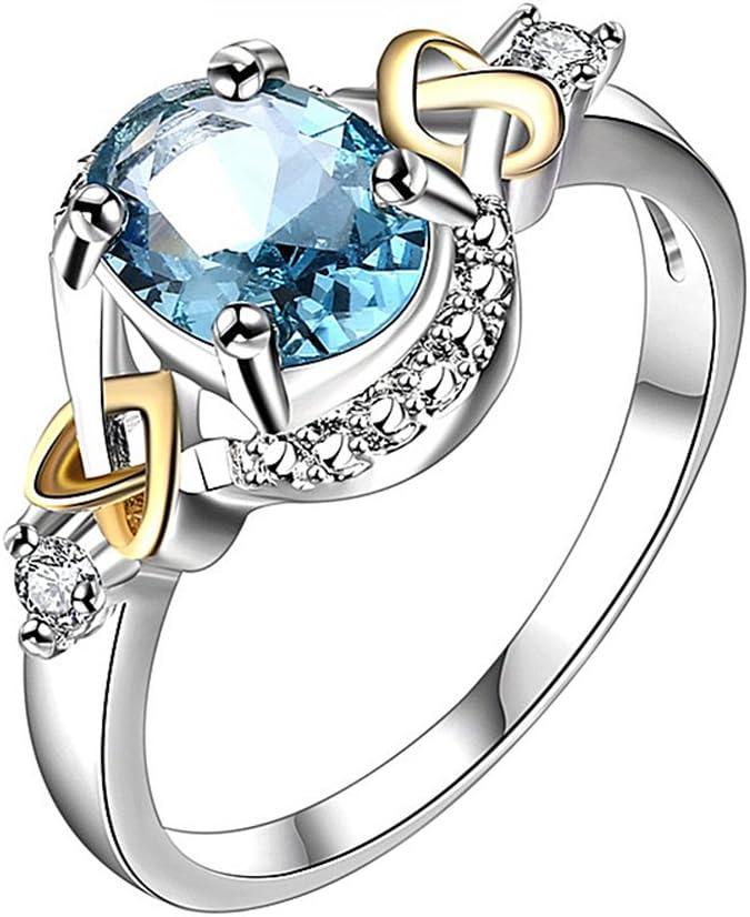 Emorias 1 Pcs Anillo de Plata Marry Pareja Compromiso Joyas Diamante Grande Joyeria Mujer Moda Chica Amor Boda Aleación Accesorios