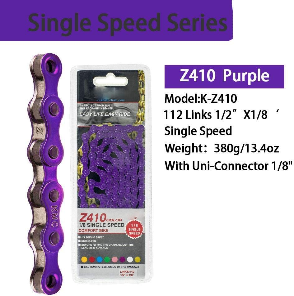 Z410-Vert WOOAI Z410 1//8 Speed Chain Simple v/élo Pignon Fixe cha/îne 112L Urbaine de Loisirs v/élo Pliant cha/îne cha/îne v/élo Multi-Couleurs 390g