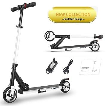 Magic Vida Patinete eléctrico Plegable Mixta Adultos niños Propulsion Trasera Scooters monopatín Muy Ligero Potencia 250 W Velocidad 23 km/h, ...