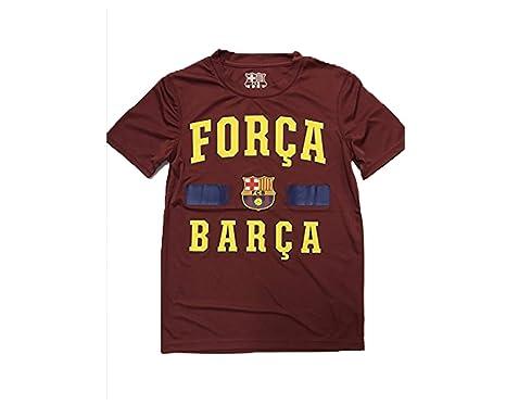 92e97372e18019 Amazon.com  FC Barcelona Maroon Forca Barca Youth Shirt  Clothing