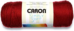 Caron Simply Soft Yarn Autumn Red