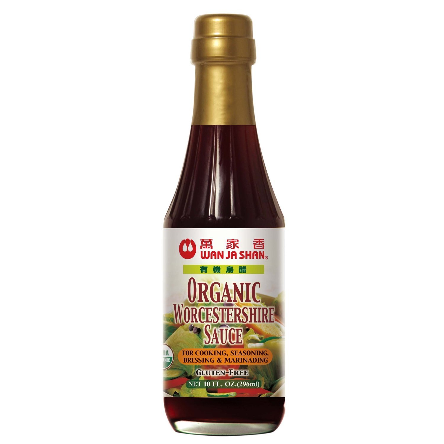 WanJaShan Organic Gluten Free Worcestershire Sauce - Seasoning, Dressing, Mar...(Pack of 6)