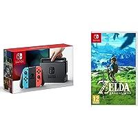 Nintendo Switch - Consola color Azul Neón/Rojo Neón + The Legend Of Zelda: Breath Of The Wild