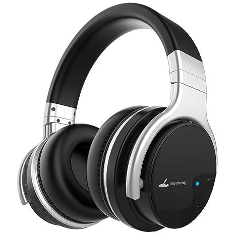 Meidong E7B Cuffie con cancellazione del rumore attivo senza fili Cuffie  Bluetooth con microfono sopra l 5807a49efd6f