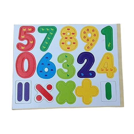 Transer® Juguetes para niños - 15 números de madera y símbolos ...