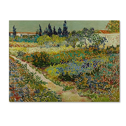 Trademark Fine Art Garden At Arles by Van Gogh, 24x32-Inch Canvas Wall Art (Canvas Arles)