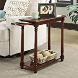 Country Style End Table, Slide Out Tray for Additional Surface Area, Bottom Shelf for Additional Storage, Great Choice for Any Home, Easily Complements the Décor, Mahogany + Expert Guide Review