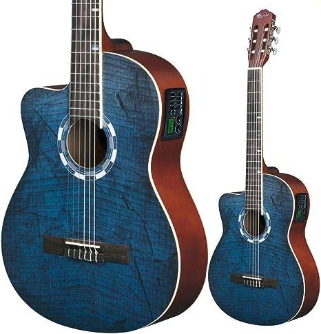 Lindo para zurdos 960 CEQ Picasso azul clásica – guitarra ...