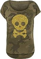 t-shirt tête de mort femme 1