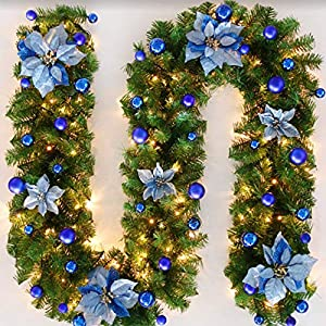 Christmas Decoration Rattan Light Encryption Luxury Hanging Ornaments Christmas Tree Festival Decorations 2.7 m Garland…