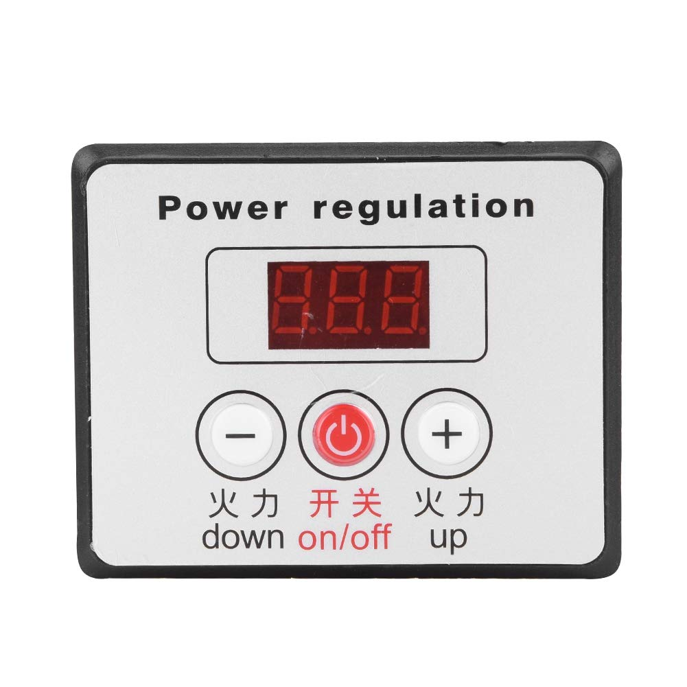 AC 220V 6000W Adjustable SCR Digital Voltage Regulator Electric Motor Speed Control Dimming Dimmer Thermostat Module by Wal front (Image #6)