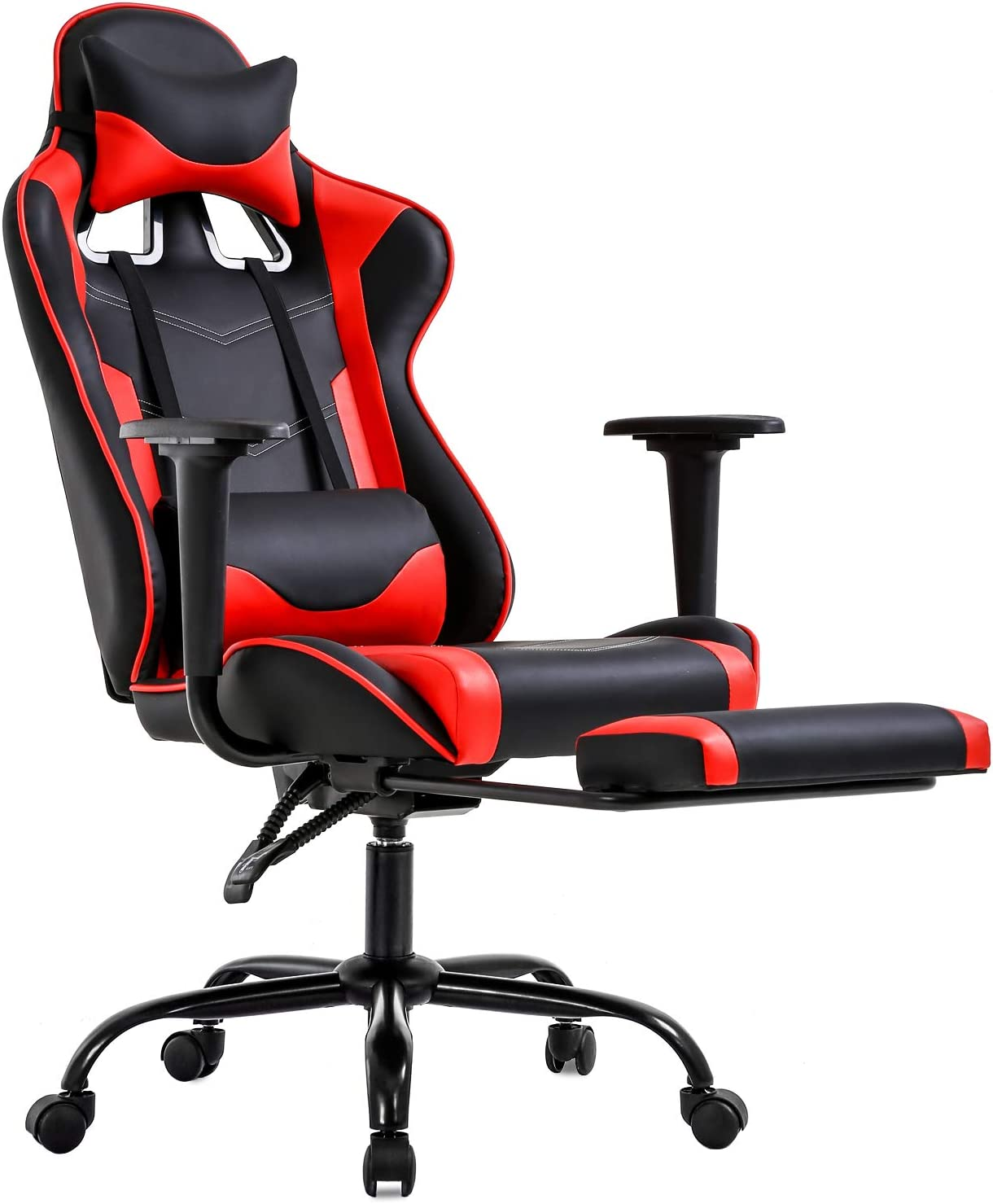 Gaming Chair with Footrest Arms Lumbar Support