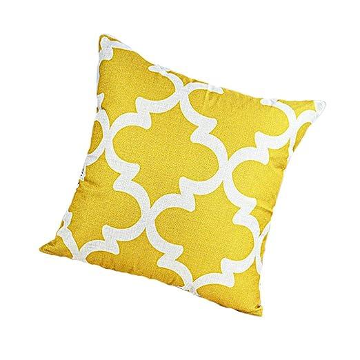 MultiWare funda de almohada Mostaza Amarillo Cuadrado manta ...