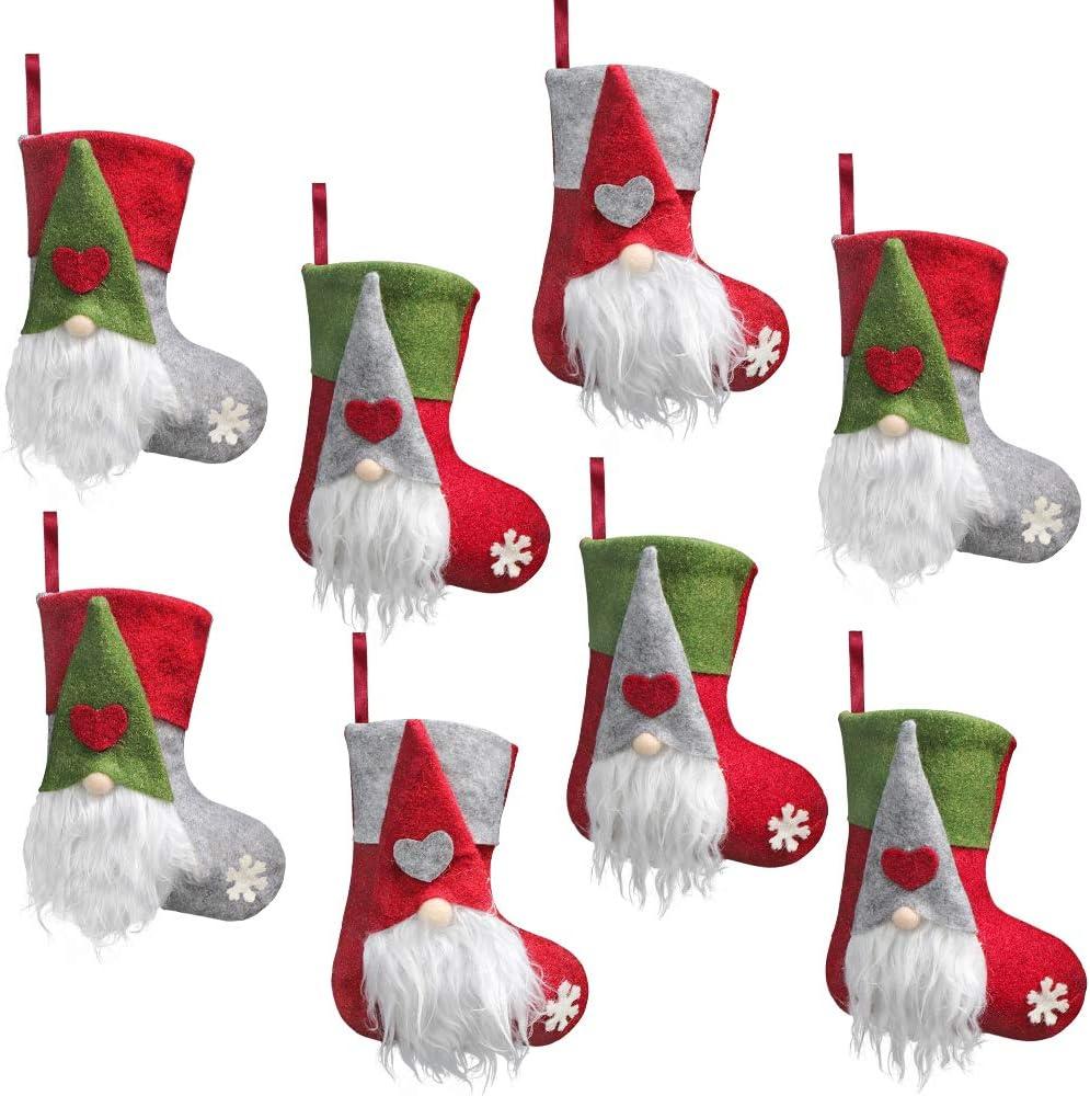 Handmade Dark Gray Christmas Stocking Stuffed with 10 Packets of Certified Organic Seeds