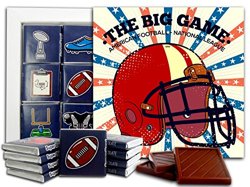 DA CHOCOLATE Candy Souvenir SUPER BOWL Chocolate Gift Set 5x5in 1 box (Helmet)]()