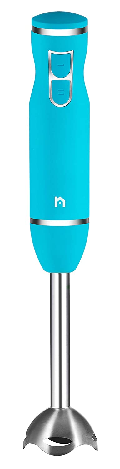 New House Kitchen Immersion Hand Blender 2 Speed Stick Mixer with Stainless Steel Shaft & Blade, 300 Watts Easily Purees Food Turquoise