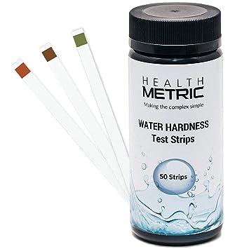 Tiras de prueba de la dureza del agua – Kit de prueba rápida y fácil con